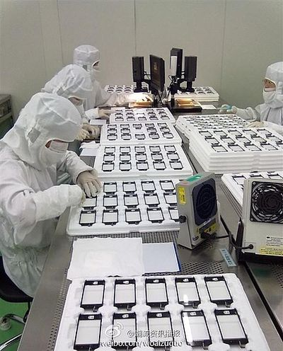 iphone display assembly production