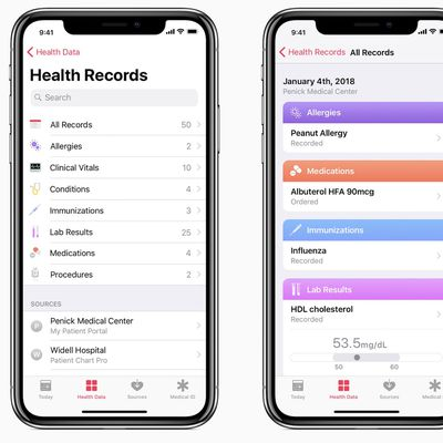 health records ios 11