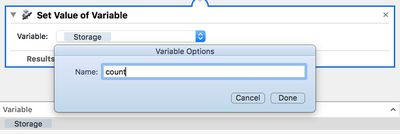 automator variable name