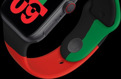 black unity apple watch close up