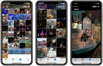 ios14albumgestures - iOS 14 Photographs and Digicam: QuickTake Shortcut, Photograph Captions, Mirrored Selfies, and Extra