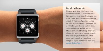 ipod nano wristwatch
