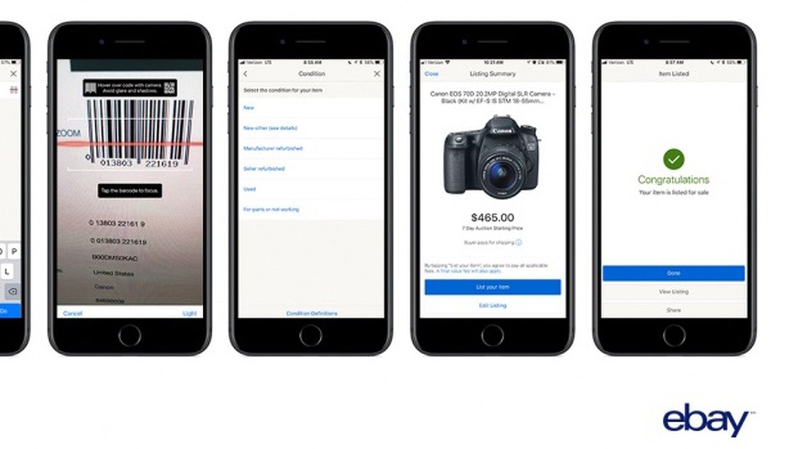 Ebay For Ios Gains Barcode Scanning Feature That Can Complete Listing Process Within Seconds Macrumors