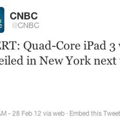 cnbc ipad 3 tweet