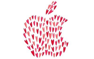 apple valentine card
