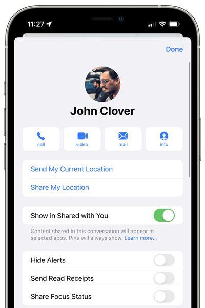 messages share focus status ios 15