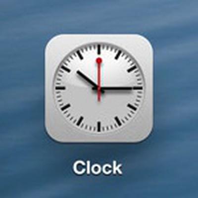 ios 6 ipad clock icon