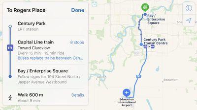apple maps transit edmonton