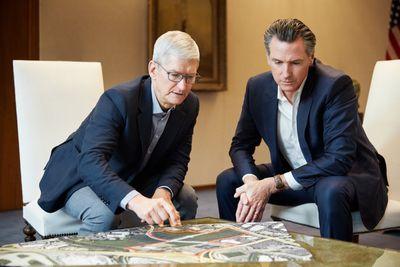 Apple Destination Home Build Site Tim Cook Gavin Newsom 102919