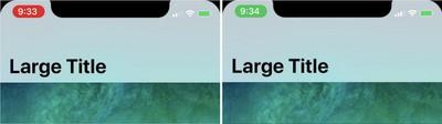 iPhone X status bar