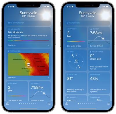 ios 15 weather app modules