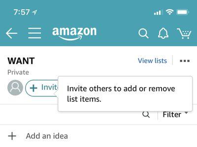 amazon sharing list