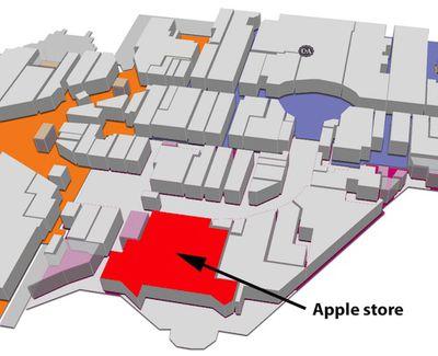 apple retail quatre temps plan