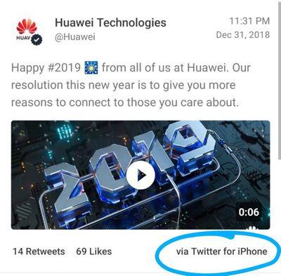 huaweiiphonetweet