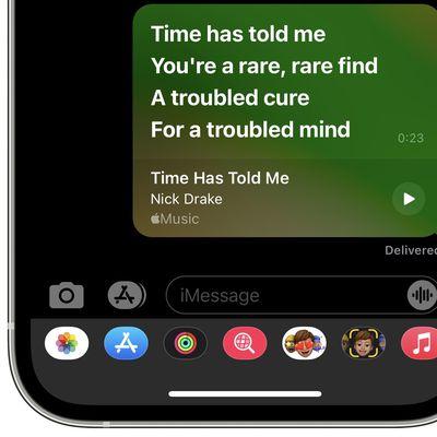 share apple music lyrics