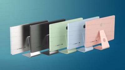 five imac colors concept feature