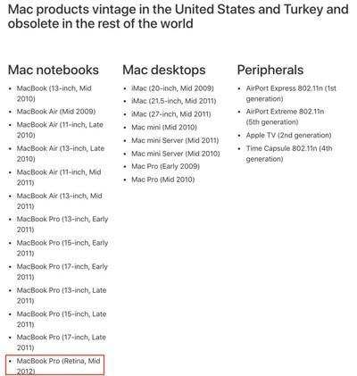 mbp 2012 vintage list
