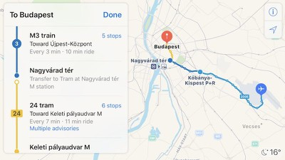 budapest apple maps transit 1