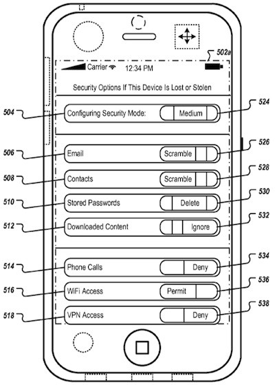 find my iphone patent settings