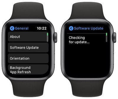 apple watch software update
