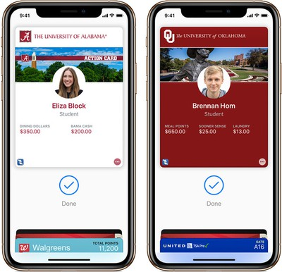student id apple wallet