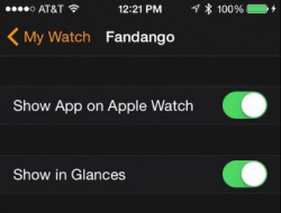How to organize Glances in Apple Watch 1