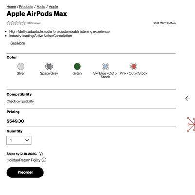 airpods max verizon