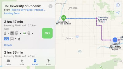 apple maps phoenix transit