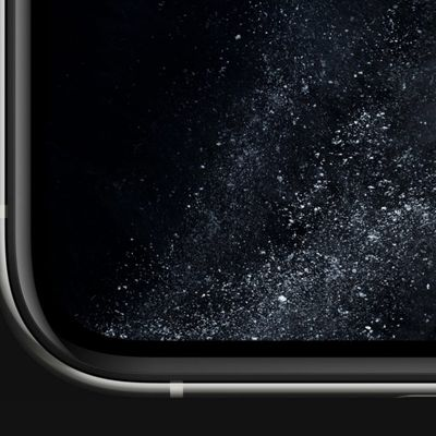 iphone 11 pro display close up