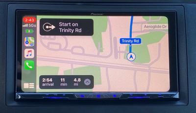 pioneer carplay map