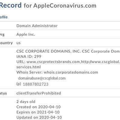 AppleCoronavirus