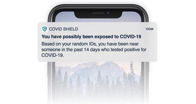 covid exposure example app