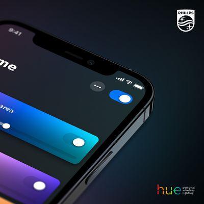 hue app main screen