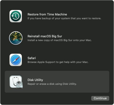 macos big sur recovery disk