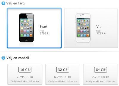 iphone 4s online launch sweden