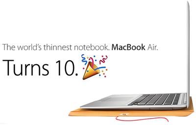 macbook air 10 years old