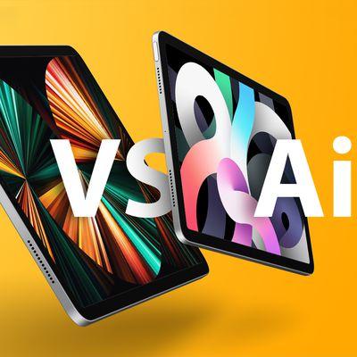 iPad Pro vs Air Feature Yellow