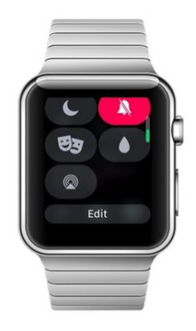 watchOS 5 control center edit icons