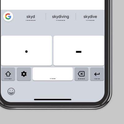Google Gboard morse code