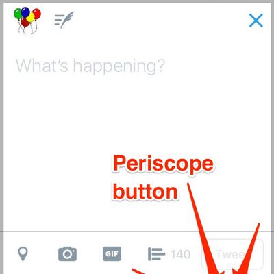 twitter go live button
