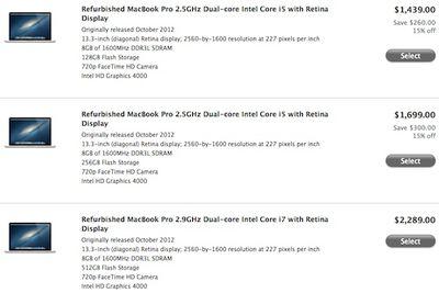 refurb 13 macbook pro retina