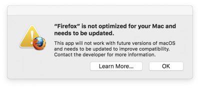 32 bit app warning mojave