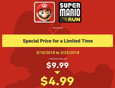 super mario run price drop 310