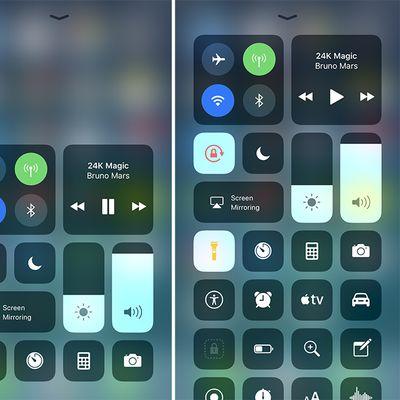 Control Center iOS 11 one