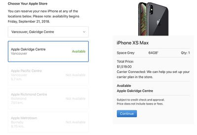 iphone xs reserve pickup 2