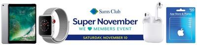 sams club nov 10 event