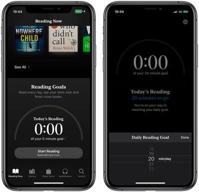 how to set reading goals books app
