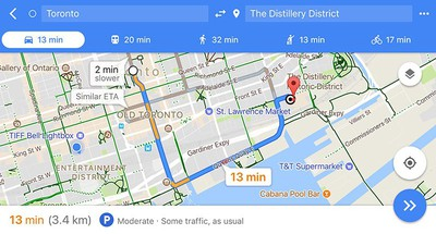 google maps parking difficulty