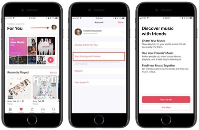 how to apple music friends 1