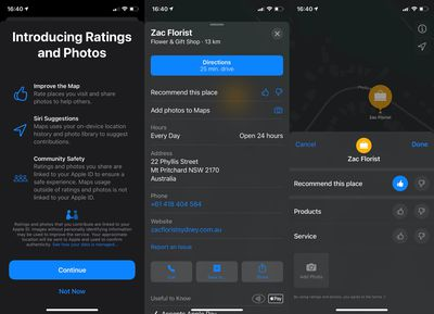 apple maps ratings system ios 14